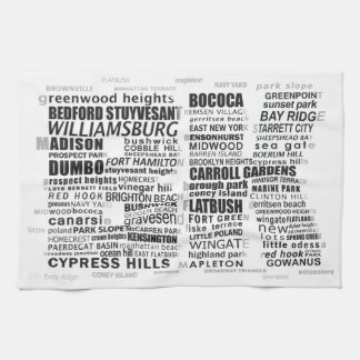 Brooklyn New York Typography Calligram Kitchen Towel