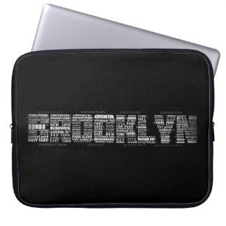 Brooklyn New York Typography Laptop Sleeve