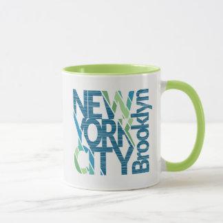 Brooklyn New York Typography Mug