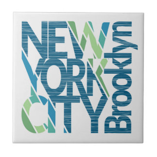 Brooklyn New York Typography Tile