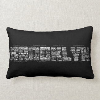 Brooklyn NY Typography Design Cushion
