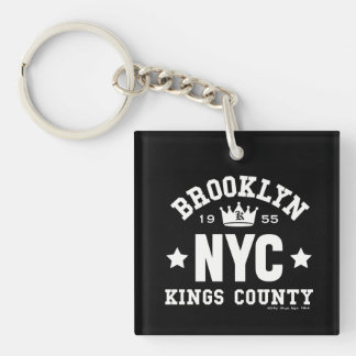 BROOKLYN NYC Double-Sided SQUARE ACRYLIC KEYCHAIN