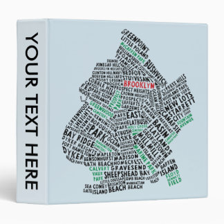 Brooklyn NYC Typography Map Binder