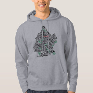 Brooklyn NYC Typography Map Hoody