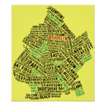 Brooklyn NYC Typography Map Poster