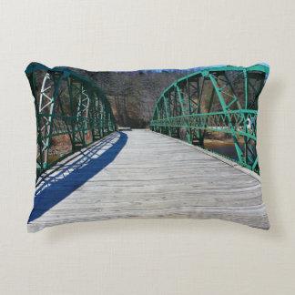 Brooklyn Road Bridge, Frankfort, Maine Decorative Pillow