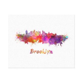 Brooklyn skyline in watercolor canvas print