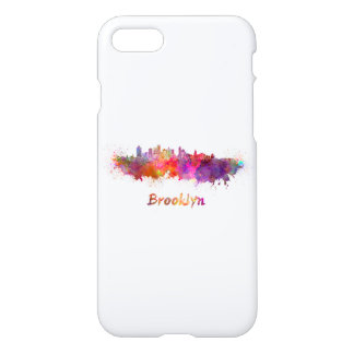 Brooklyn skyline in watercolor iPhone 8/7 case