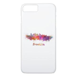 Brooklyn skyline in watercolor iPhone 8 plus/7 plus case