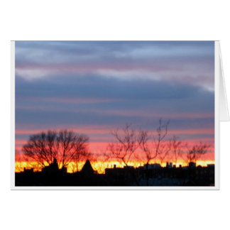 Brooklyn Sunset Scene Card