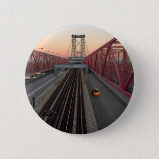 Brooklyn Taxi 2 Inch Round Button