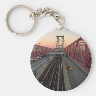 Brooklyn Taxi Basic Round Button Keychain