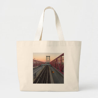 Brooklyn Taxi Large Tote Bag