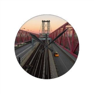 Brooklyn Taxi Round Clock