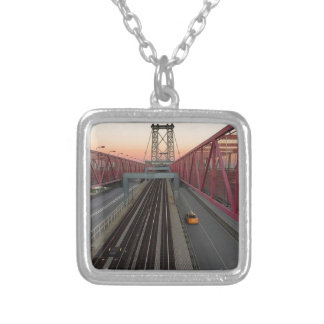 Brooklyn Taxi Silver Plated Necklace
