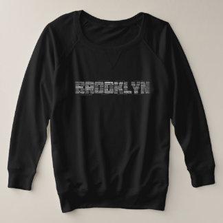 Brooklyn Typography Sweatshirt, Plus Size, BK Plus Size Sweatshirt