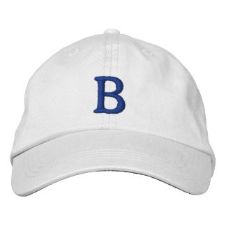 Brooklyn Vintage Cap - Basic Adjustable - White Embroidered Baseball Caps