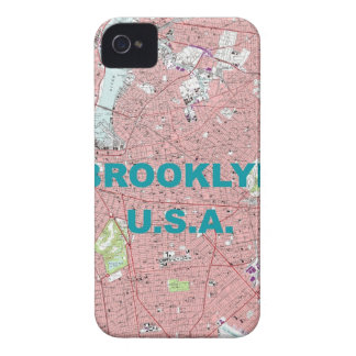 Brooklyn Vintage Map Blackberry  Case-Mate Case iPhone 4 Cover