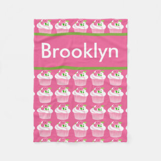 Brooklyn's Personalized Cupcake Blanket