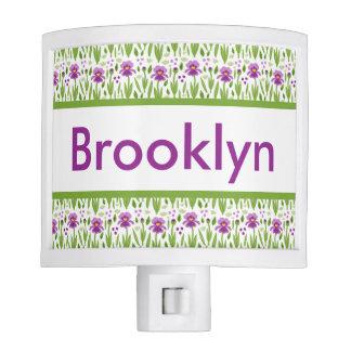 Brooklyn's Personalized Iris  Night Light