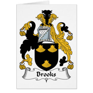 Brooks Family Crest Card
