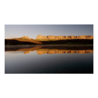 Brooks Lake Breccia Cliffs Mountain Range Shoshone Poster