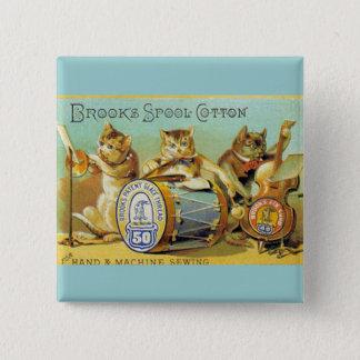 Brooks Spool Cotton 2 Inch Square Button