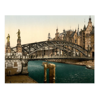 Brooksbrucke Bridge, Hamburg, Germany Postcard