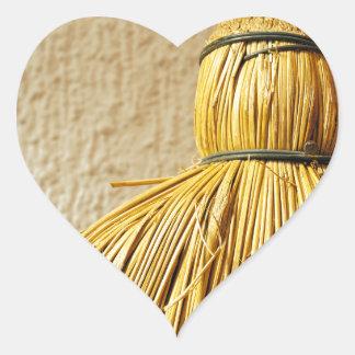 Broom Heart Sticker