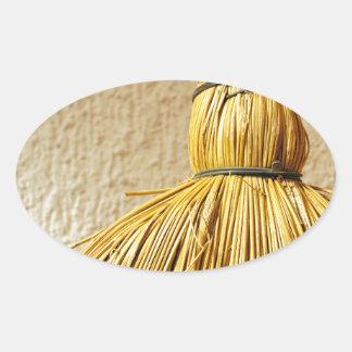 Broom Oval Sticker