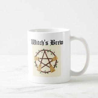 Broom pentagram Witch's Brew Coffee Mug