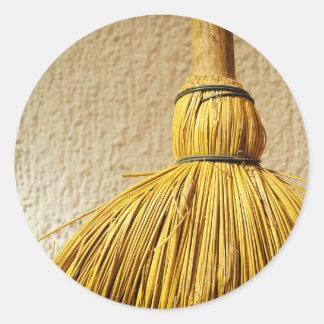 Broom Round Sticker