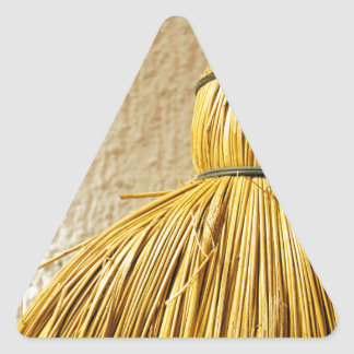 Broom Triangle Sticker
