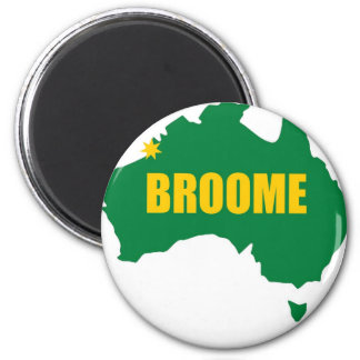 Broome Green and Gold Map Magnet