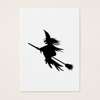 Broomstick Witch Silhouette Business Card