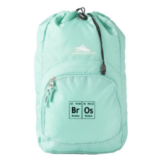 BrOs Chemistry Periodic Table Words Element Symbol Backpack