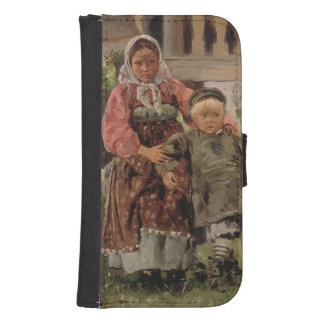 Brother and Sister, 1880 Galaxy S4 Wallet Cases