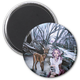 brother and sister 2 inch round magnet