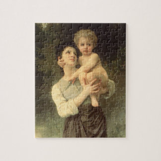 Brother and Sister by Bouguereau, Victorian Art Jigsaw Puzzle