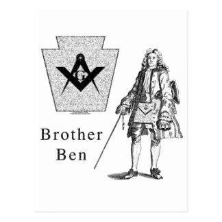 Brother Ben Franklin Postcard