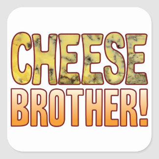 Brother Blue Cheese Square Sticker
