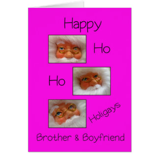 brother & boyfriend happy ho ho holigays gay x-mas card