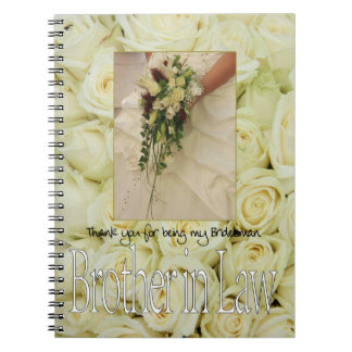 Brother Bridesman thank you Notebooks