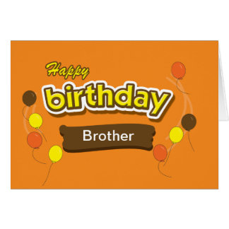 Brother Candy Birthday Card