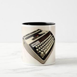 Brother Echelon 55 typewriter Two-Tone Coffee Mug