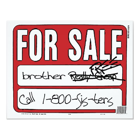 Brother For Sale Card