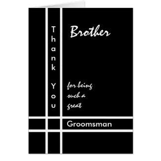 BROTHER - Groomsman Wedding Thank You Card