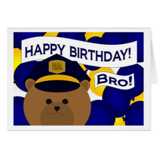 Brother - Happy Birthday Police Hero! Card