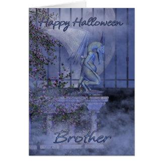 Brother Happy Halloween gargoyle Card