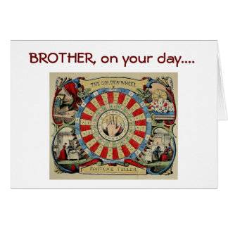 """*BROTHER* I PREDICT """"YOU"""" HAVE A HAPPY BIRTHDAY GREETING CARD"""